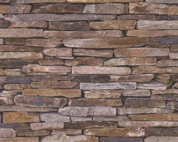 AS Creation Wood´n Stone 9142-17 Steenstructuur behang