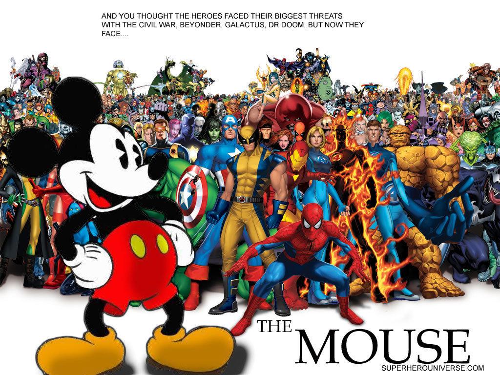 Disney-&-Marvel-Fotobehang