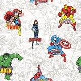 marvel heroes  papier behang_
