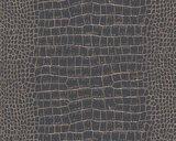 AS Creation Trendwall   3710-03 / 371003 (Krokodillenleer zwart + goud)_