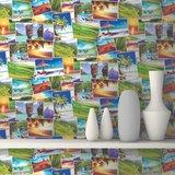 Dutch Replik behang J813-04 Vakantiefoto's_