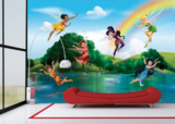 AG Design Fotobehang Disney Fairies with Rainbow FTD2222_