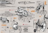 Star Wars Blueprints Fotobehang 8-493_
