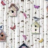 Muriva behang 102549 Bird Boxes Multi_