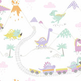 Dutch Wallcoverings Make Believe Dino Town 12532_