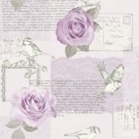 BEHANG 630401 roos lila