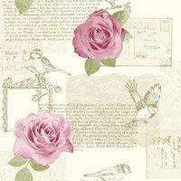 BEHANG 630402 roos roze