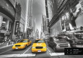 AG Design Fotobehang Yellow Cabs FTS1310