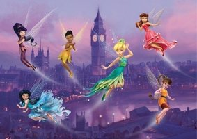 AG Design Fotobehang Disney Fairies in London FTDS1925