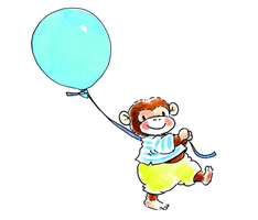 Sweet Collection by Monica Maas | Monkey with a Balloon 5001A