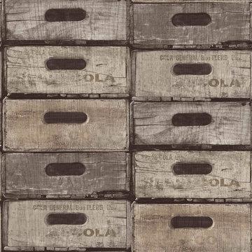 Dutch Exposed Warehouse behang EW3302 kistjes
