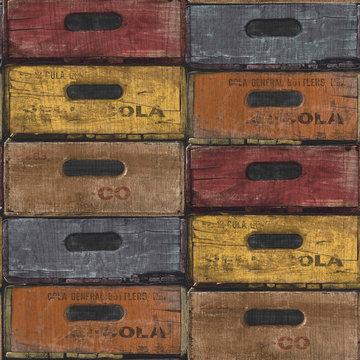 Dutch Exposed Warehouse behang EW3303 kistjes
