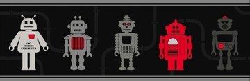 Dutch Hoopla DLB07533 Robots behangrand