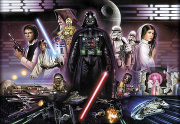 Fotobehang Starwars Darth Vader Collage