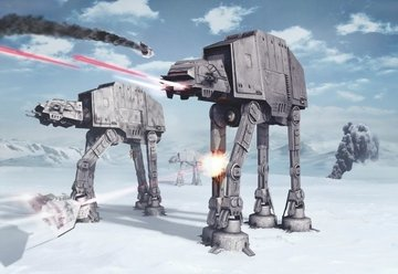 Fotobehang Starwars Battle of Hoth