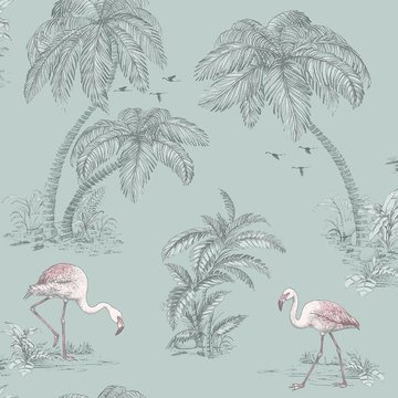 Dutch Wallcoverings Imaginarium flamingo 12380