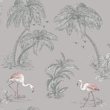 Dutch Wallcoverings Imaginarium flamingo 12381