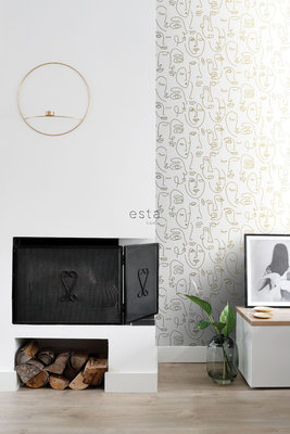 Esta Home Black & White 139146 (With a spash of gold)