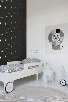 Esta Home Black & White 139123 (With a spash of gold)