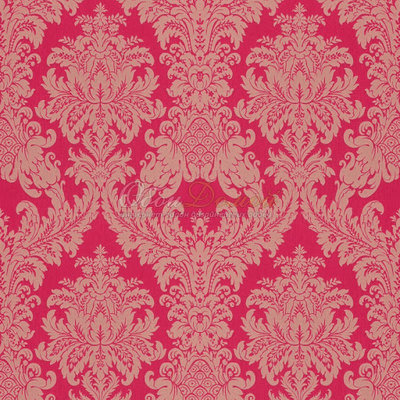rasch textil exclusief barok keizerlijk rood echte stof op vlies
