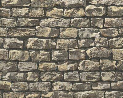 AS Creation Wood´n Stone 9079-12 Steenstructuur behang