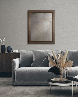 Dutch Wallcoverings Wall Fabric linen silver  WF121052