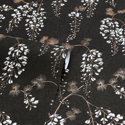 Arthouse Wisteria Floral Black/Gold 297302