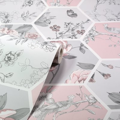 Arthouse Chinoise Decoupage Pink  908904
