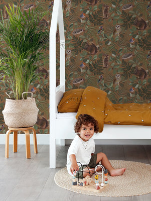 Esta Home Forest Friends Oranje Bruin 139251