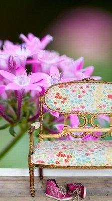 Esta Home Ginger behang PhotowallXL pink star flower 158006