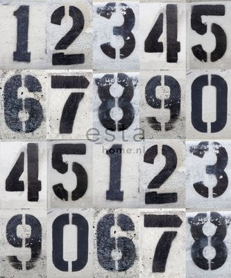 Esta Home Denim & Co. PhotowallXL street map numbers 157710