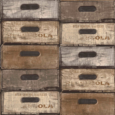 Dutch Exposed Warehouse behang EW3301 kistjes