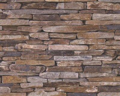 AS Creation Woodïn Stone 9142-17 Steenstructuur behang