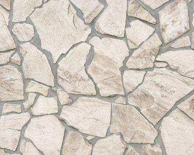AS Creation Wood´n Stone 9273-23 Steenstructuur behang