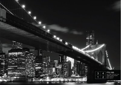 AG Design Fotobehang Brooklyn Bridge FTS1305