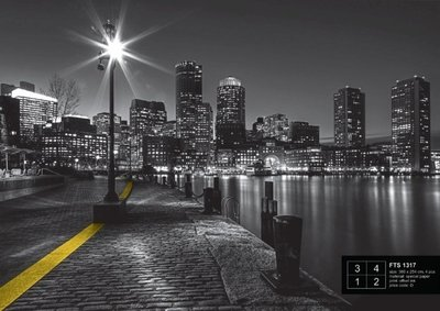AG Design Fotobehang City at Night FTS1317