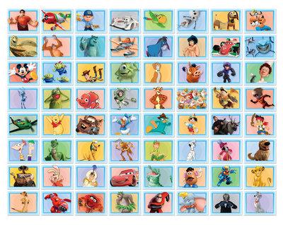 NIEUW  Disney foto collage 64 stuks Blauw 43169