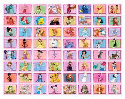 NIEUW  Disney foto collage 64 stuks Roze 43176