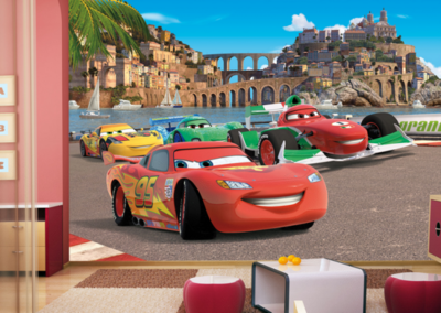 AG Design Fotobehang Disney Cars Race FTD2221