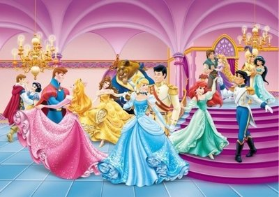 AG Design Fotobehang Disney Princess Carnival FTDS1928
