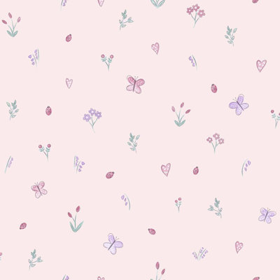 Dutch Wallcoverings Make Believe Butterfly Garden 12470
