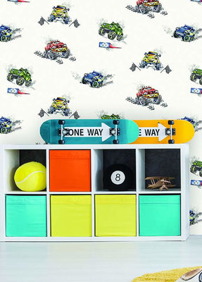 Dutch Wallcoverings Make Believe Monster Trucks 12510