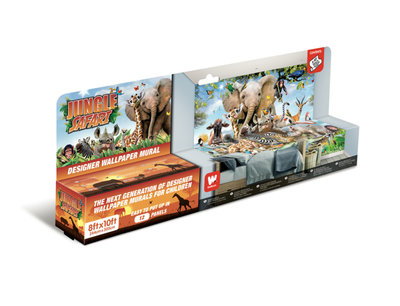 Walltastic Wall Mural Jungle Safari 45255