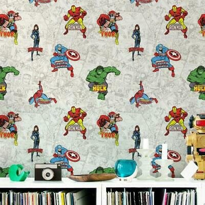 marvel heroes  papier behang