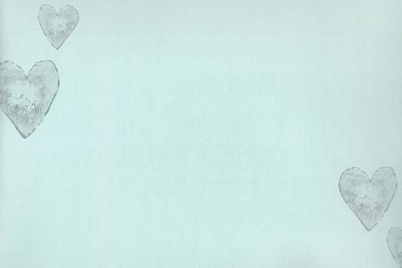 OZ Sweet Baby - OZ 3083 Behang hartjes op mint /zacht turquoise vlies