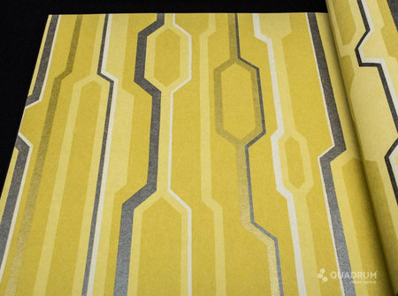 Vlies Rasch Textil Retro Grafisch  met zacht glans effect in donkere strepen 228105