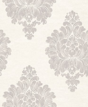 Vlies Rasch Textil  crème gris perle  collectie Comtesse foto 2/3 voorbeeld patroon andere kleur