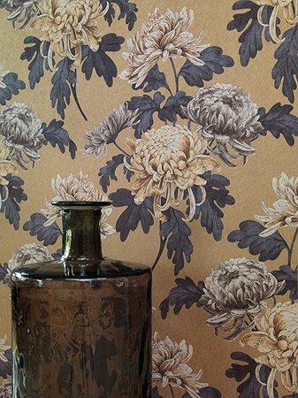 Vlies Rasch Textil  aubergine tinten  collectie Comtesse foto 3/4 voorbeeld patroon andere kleur