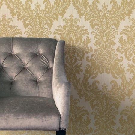 rasch textil exclusief barok keizerlijk zand  echte stof op vlies