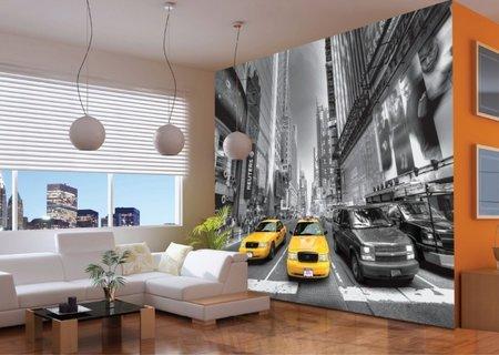 AG Design Fotobehang Yellow Cabs FTS1310